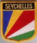 Seychelles Embroidered Flag Patch, style 07.